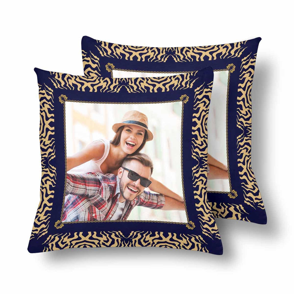 Custom Love Couple Photo Tribal Throw Pillow Cover