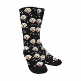 Custom Face Dog Sublimated Crew Socks
