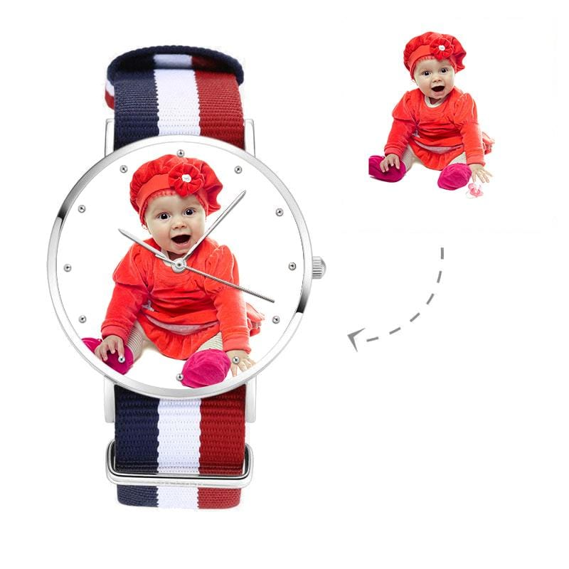Unisex Custom Photo Watch, Nylon Strap