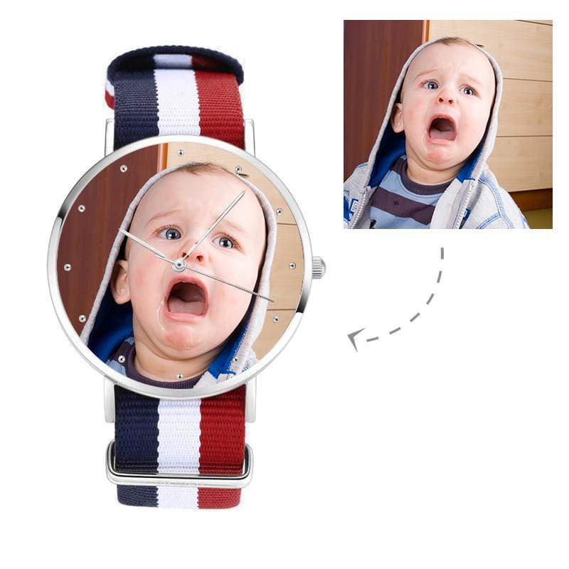 Unisex Custom Babies' Photo Watch,Nylon Strap