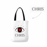 Custom Name Eye Canvas Tote Bag