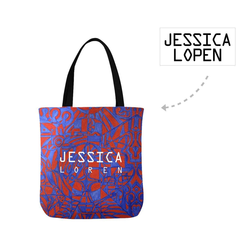 Custom Name Text Purple Pattern Canvas Tote Bag