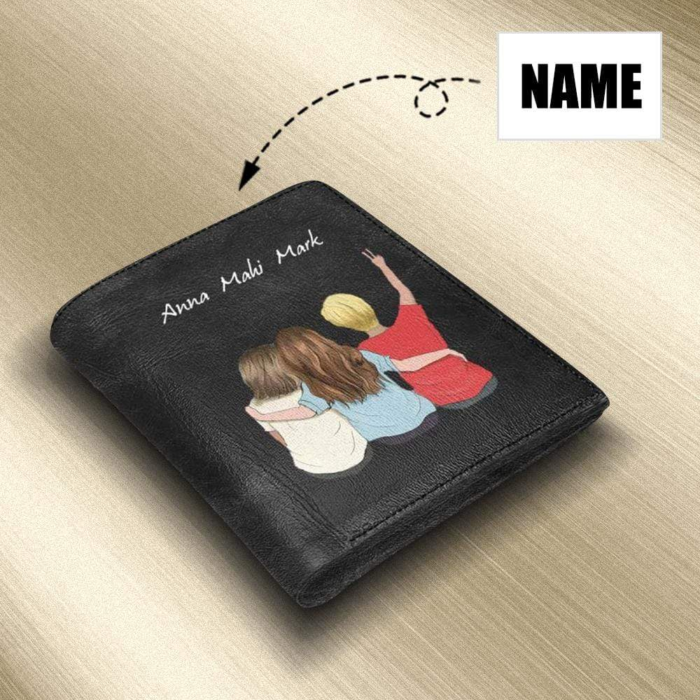 Custom Name We Are Friends Genuine Leather Wallet