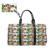Custom Photo Loving Family Seamless Stitching Travel Bag