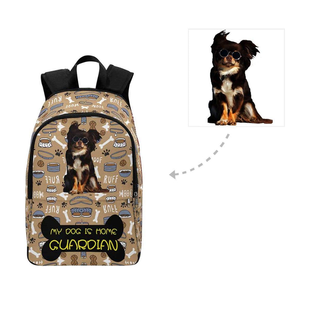 Custom Photo My Dog Is Home Guardian Casual Backpack