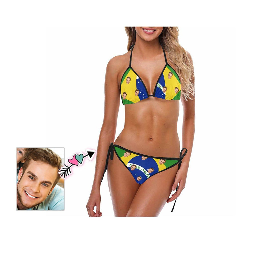 Custom Face Flag Bikini Swimsuit