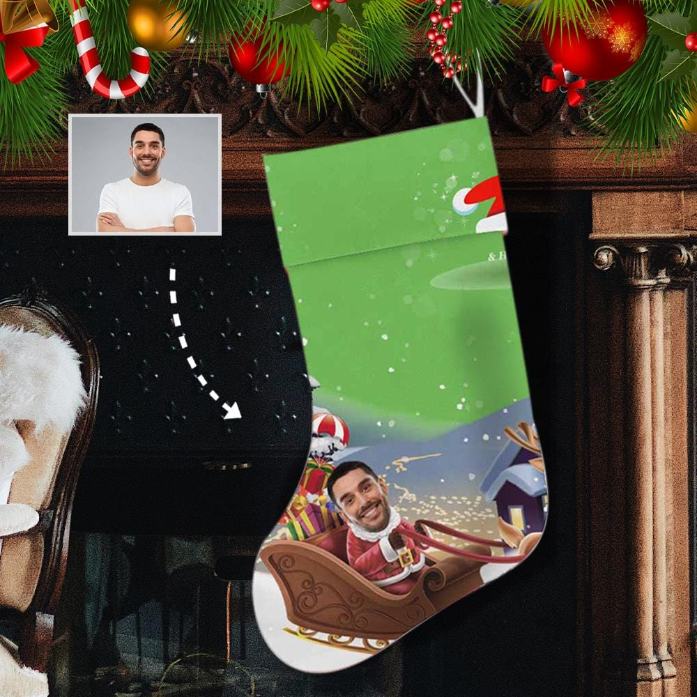 Custom Face Santa Clause Christmas Stocking