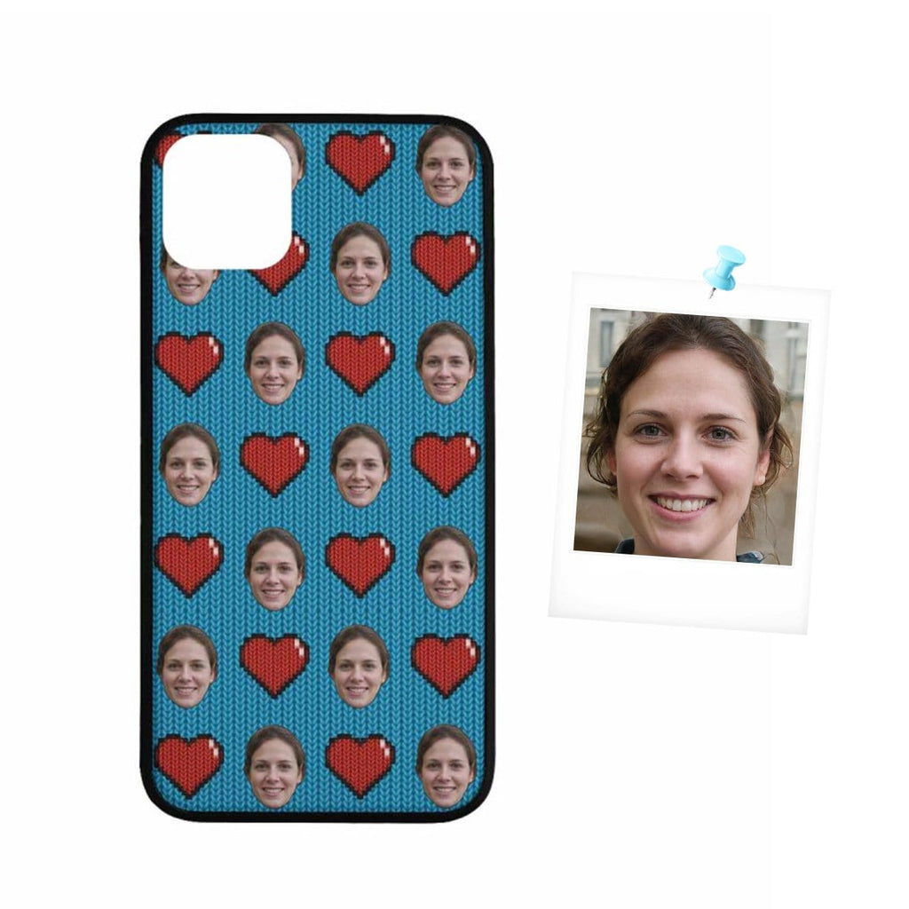 Custom Face Heart Rubber Case for Iphone