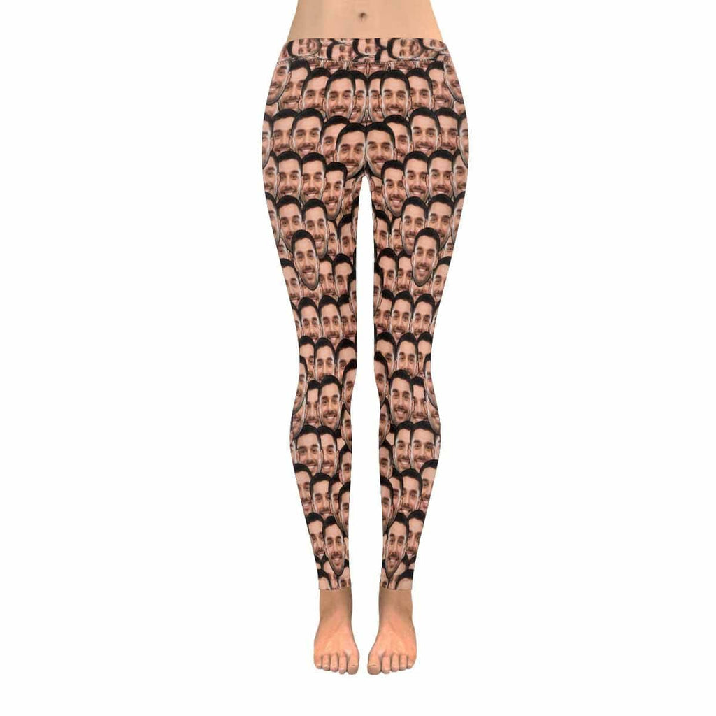 Custom Face Smash Low Rise Leggings
