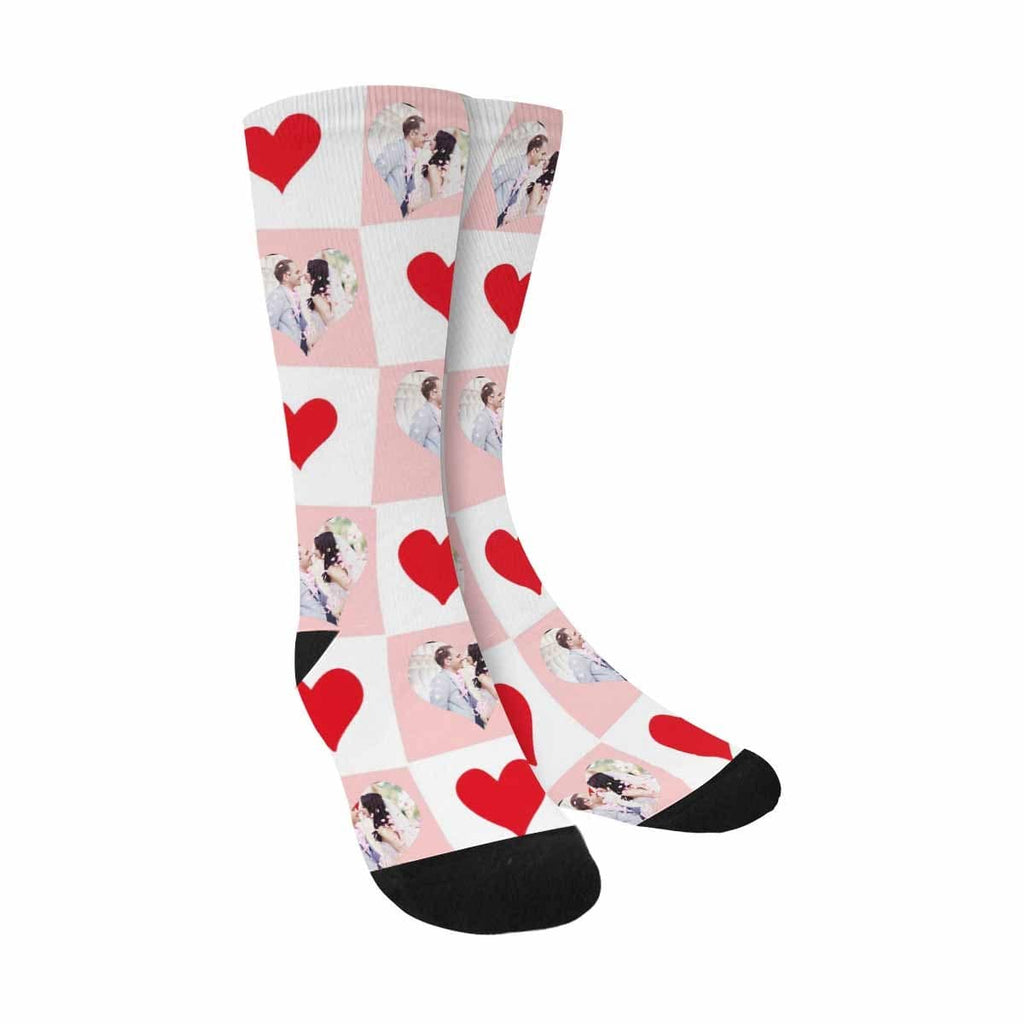 Custom Couple Sublimated Crew Socks
