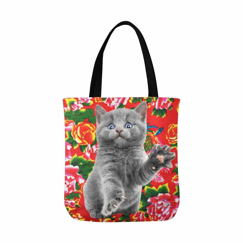 Custom Fashion Cat Photo Tote Bag