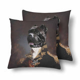 Custom Dog Face Prince Throw Pillow Cover