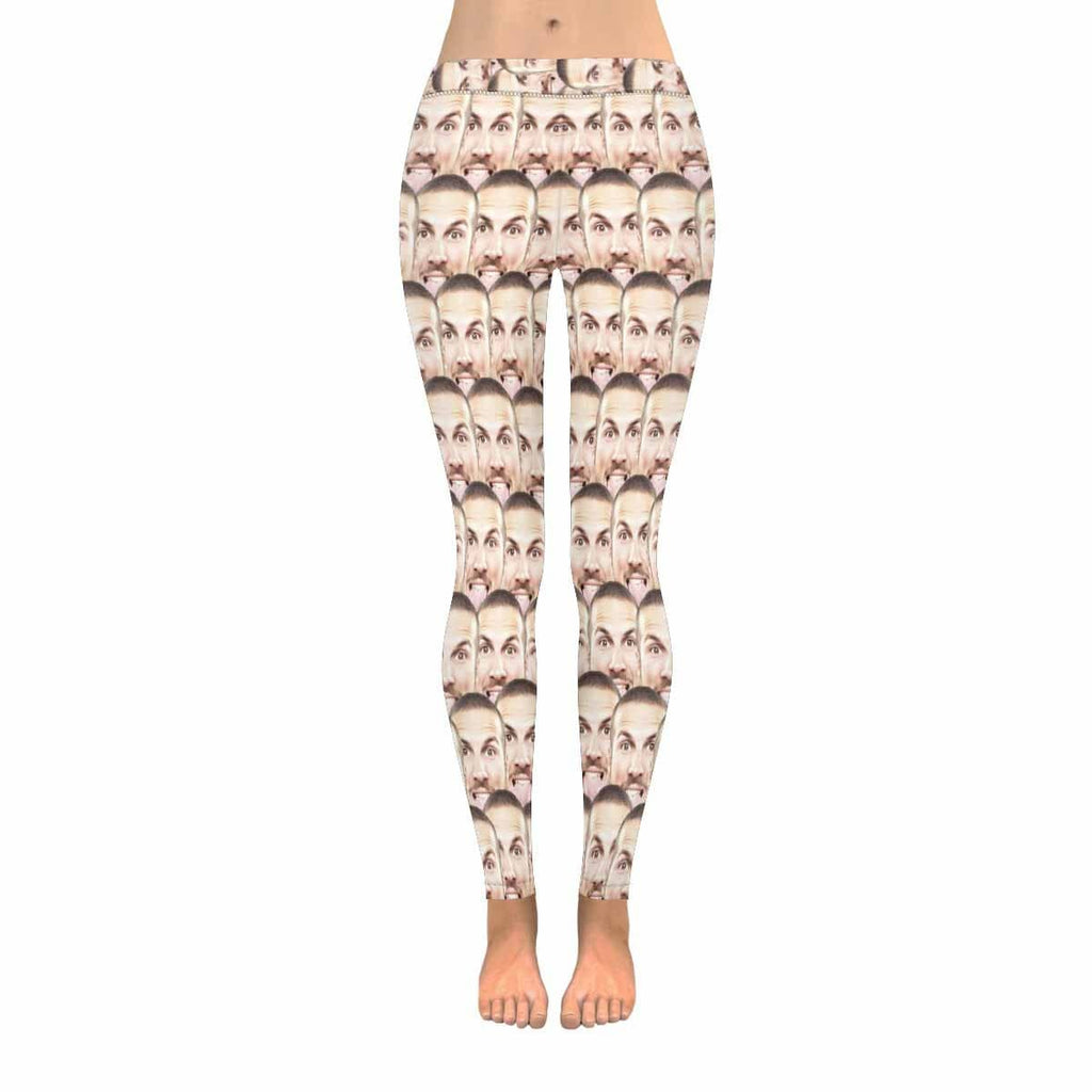 Custom Face Photo Low Rise Leggings