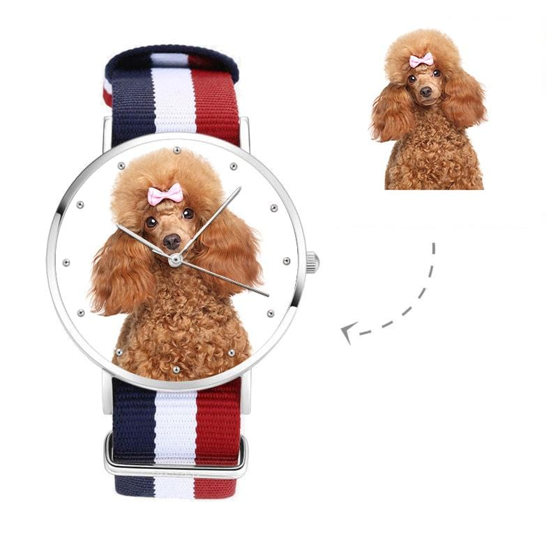 Unisex Custom Pup Photo Watch, Nylon Strap