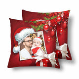 Custom Dad Christmas Throw Pillow Cover
