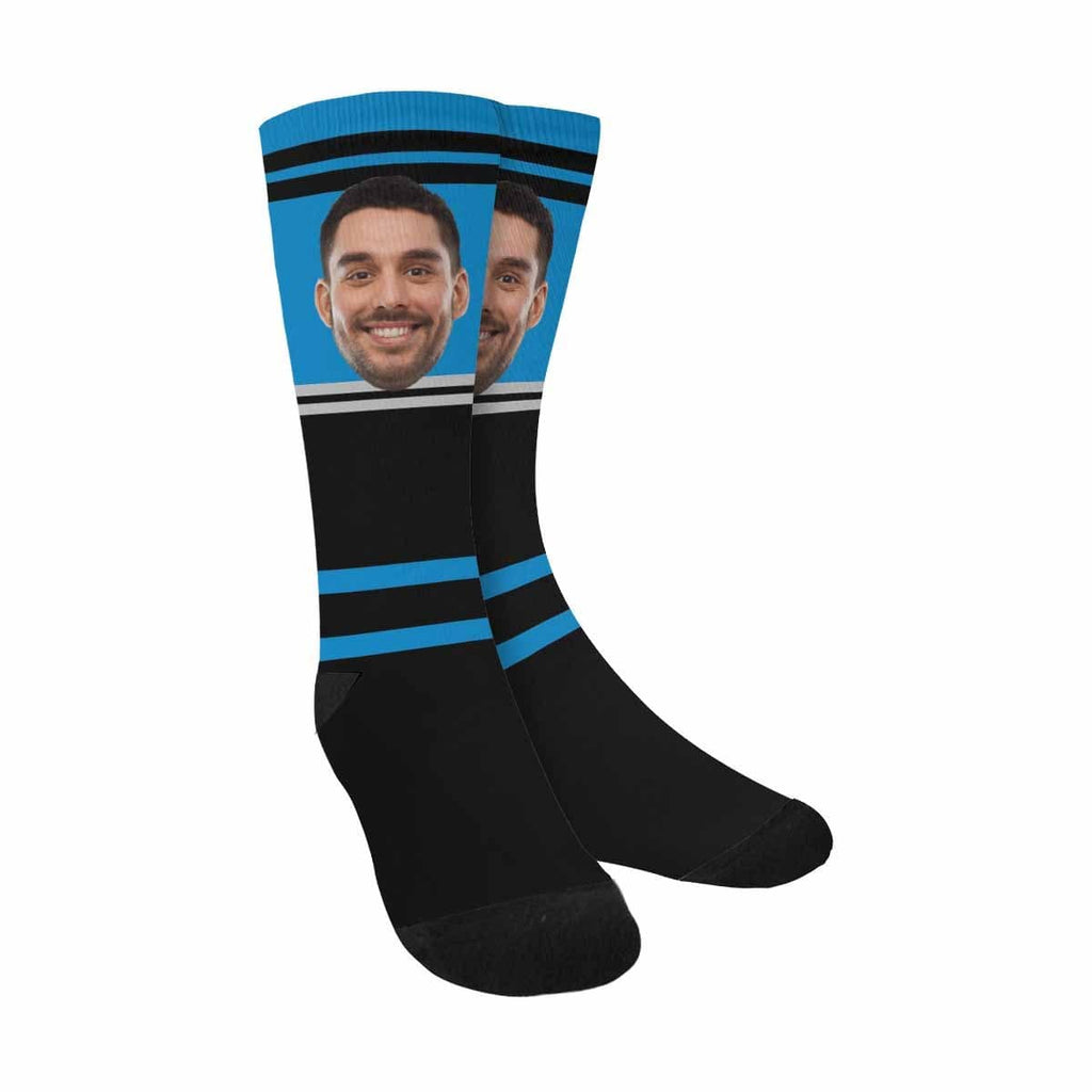 Custom Football Team Face Sublimated Crew Socks