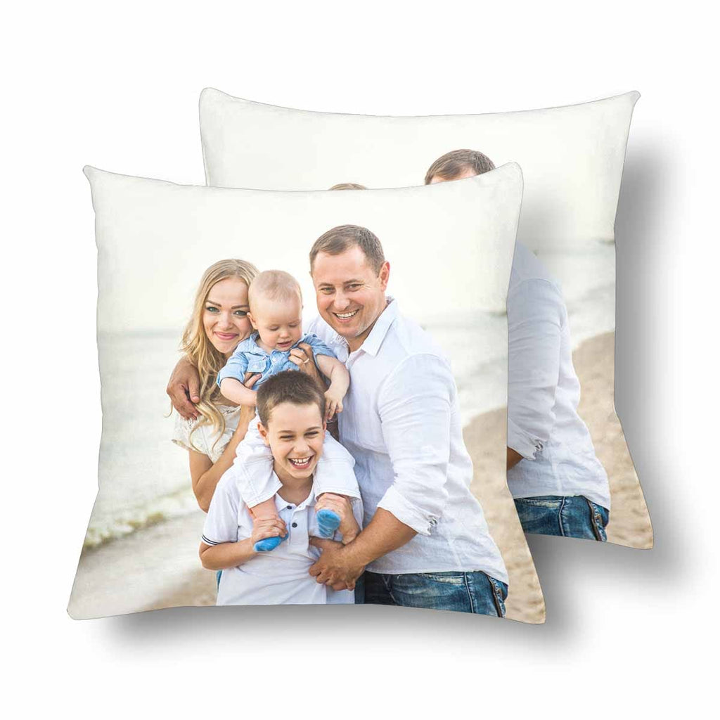 Custom Family Photo Throw Pillow Cover