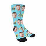 Custom Baby Face Letter Sublimated Crew Socks