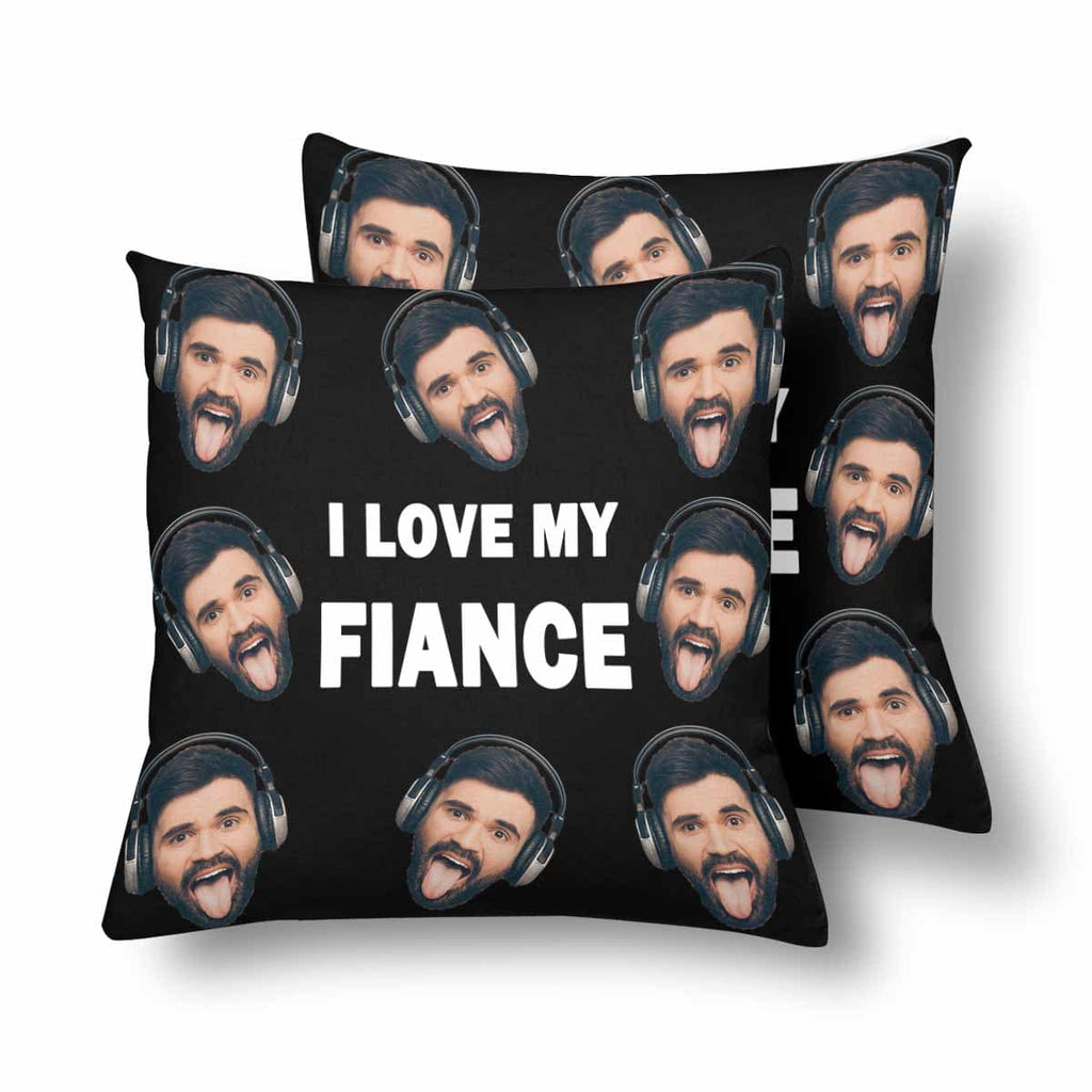Custom Face Letter Throw Pillow Cover
