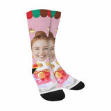 Custom Face Cake Sublimated Crew Socks