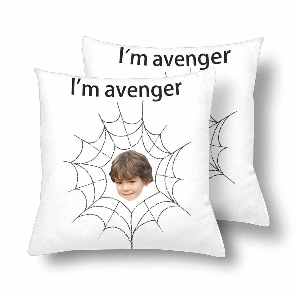 Custom Face Avengers Spider Throw Pillow Cover