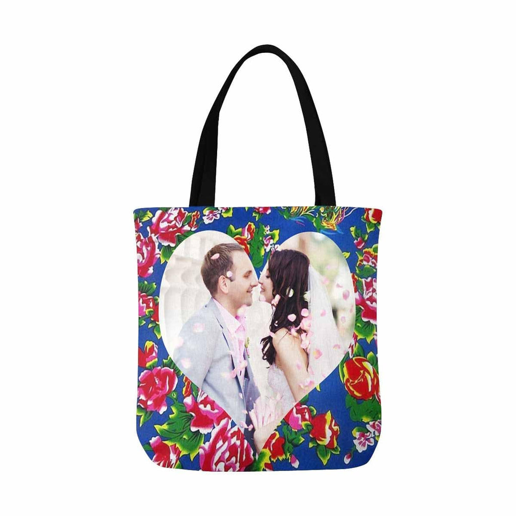 Custom Fashion Couple Heart Canvas Tote Bag