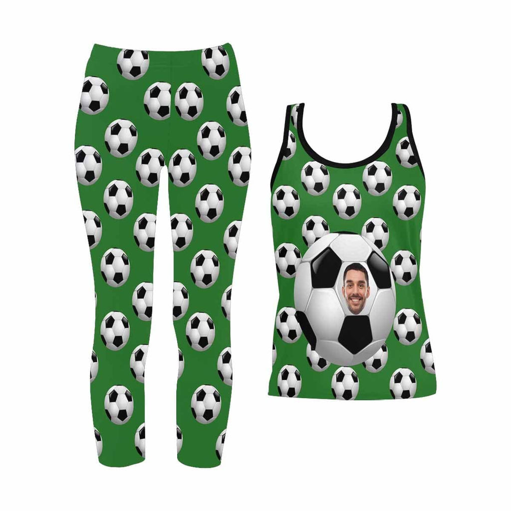 Custom Face Soccer Women's Yoga Racerback Tank&Leggings Set