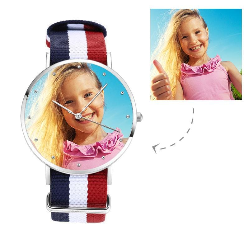 Unisex Custom Kid's Photo Watch, Nylon Strap