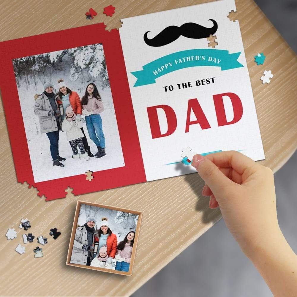 Custom Photo Best Dad Wooden Photo Puzzle 1000 Pieces