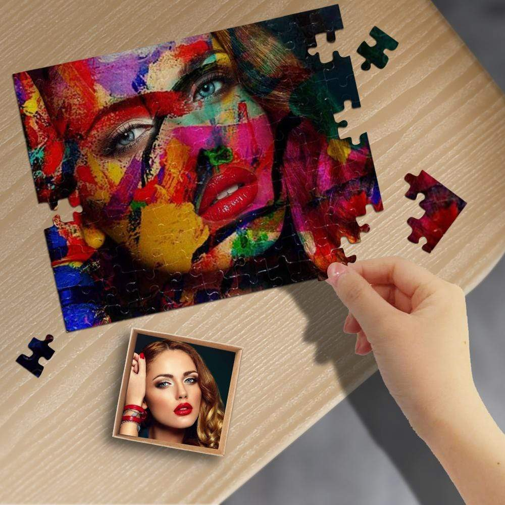 Custom Photo Colorful Abstract Art Rectangle Jigsaw Puzzle Best Indoor Gifts 110/500/1000 Pieces