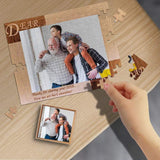 Custom Photo Dear Dad Rectangle Jigsaw Puzzle Best Indoor Gifts 110 Pieces