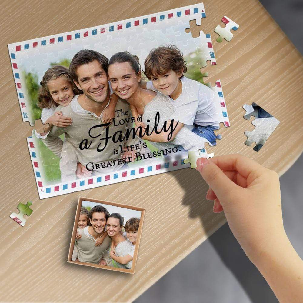Custom Photo Family Envelope Rectangle Jigsaw Puzzle Best Indoor Gifts 110/500/1000 Pieces