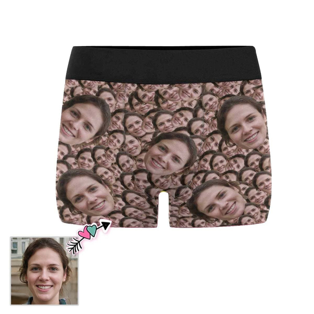 Custom Face Pattern Men's All-Over Print Boxer Briefs