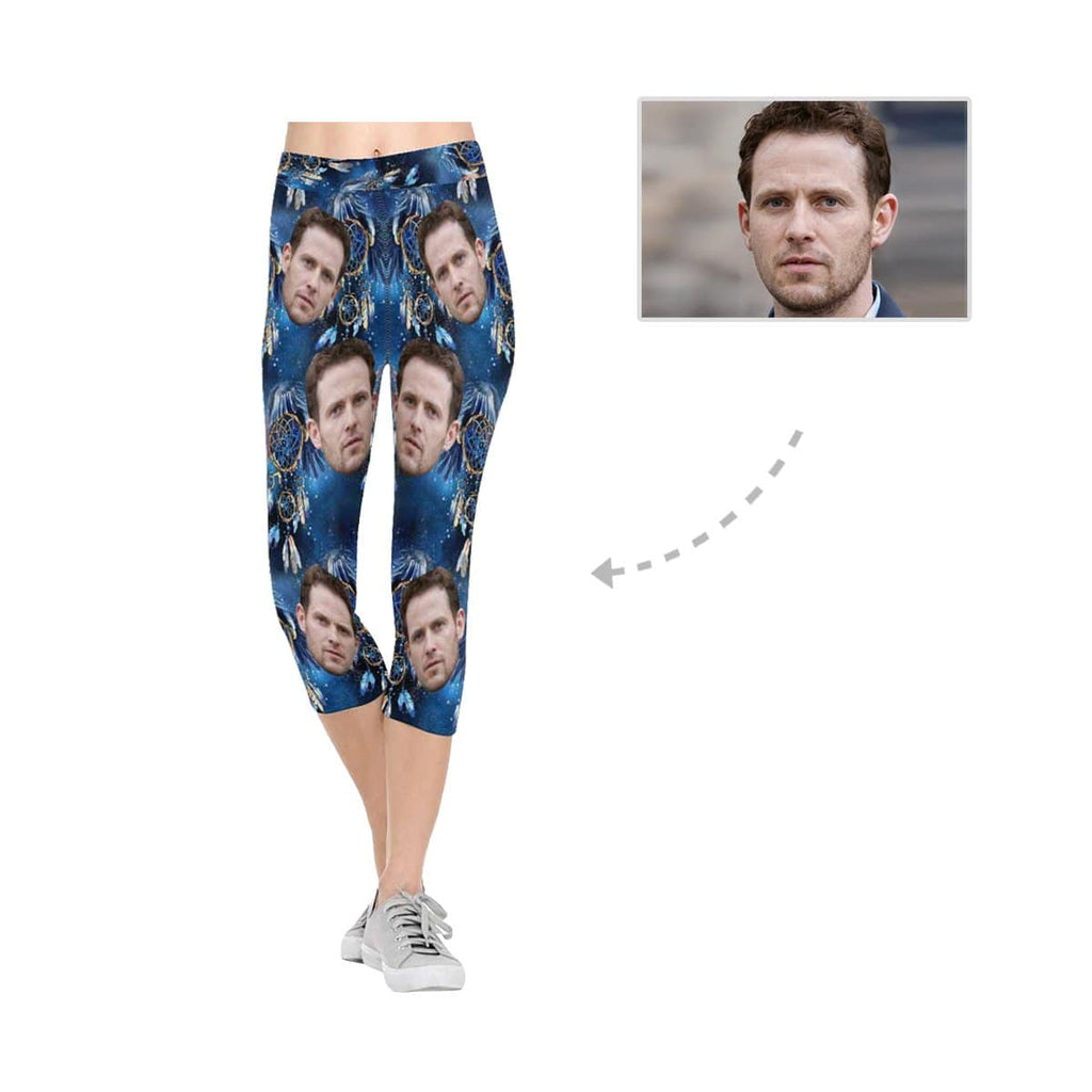 Custom Boyfriend Face Feather All-Over Low Rise Capri