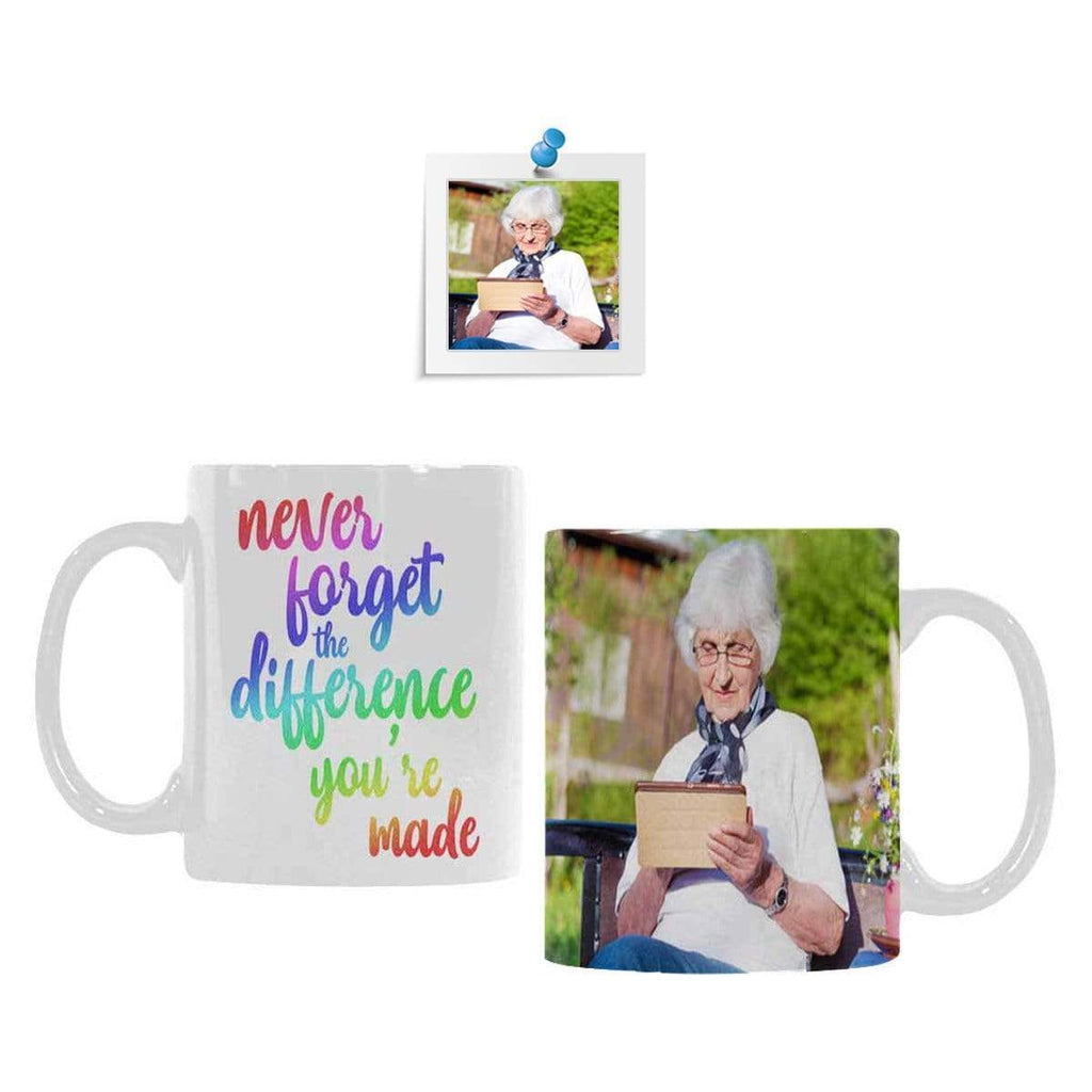 Custom Photo Make Difference Classical White Mug