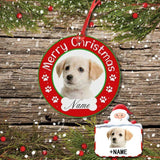 Custom Face&Name Merry Christmas Circle Ornament