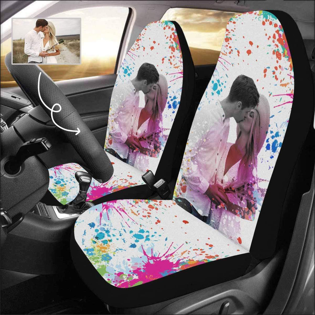 Custom Photo Painted Color Car Seat Covers (Set of 2)