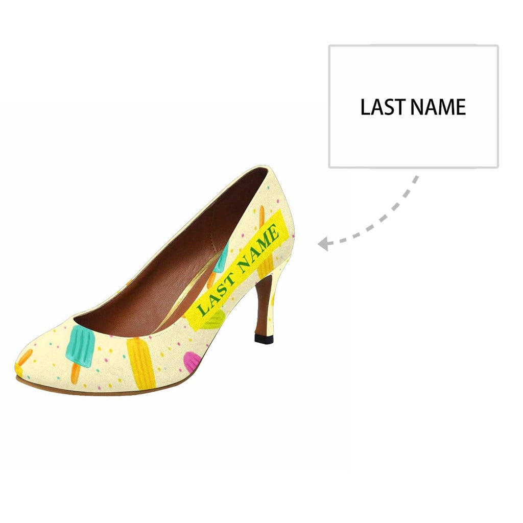 Custom Name Popsicle Women's Pumps