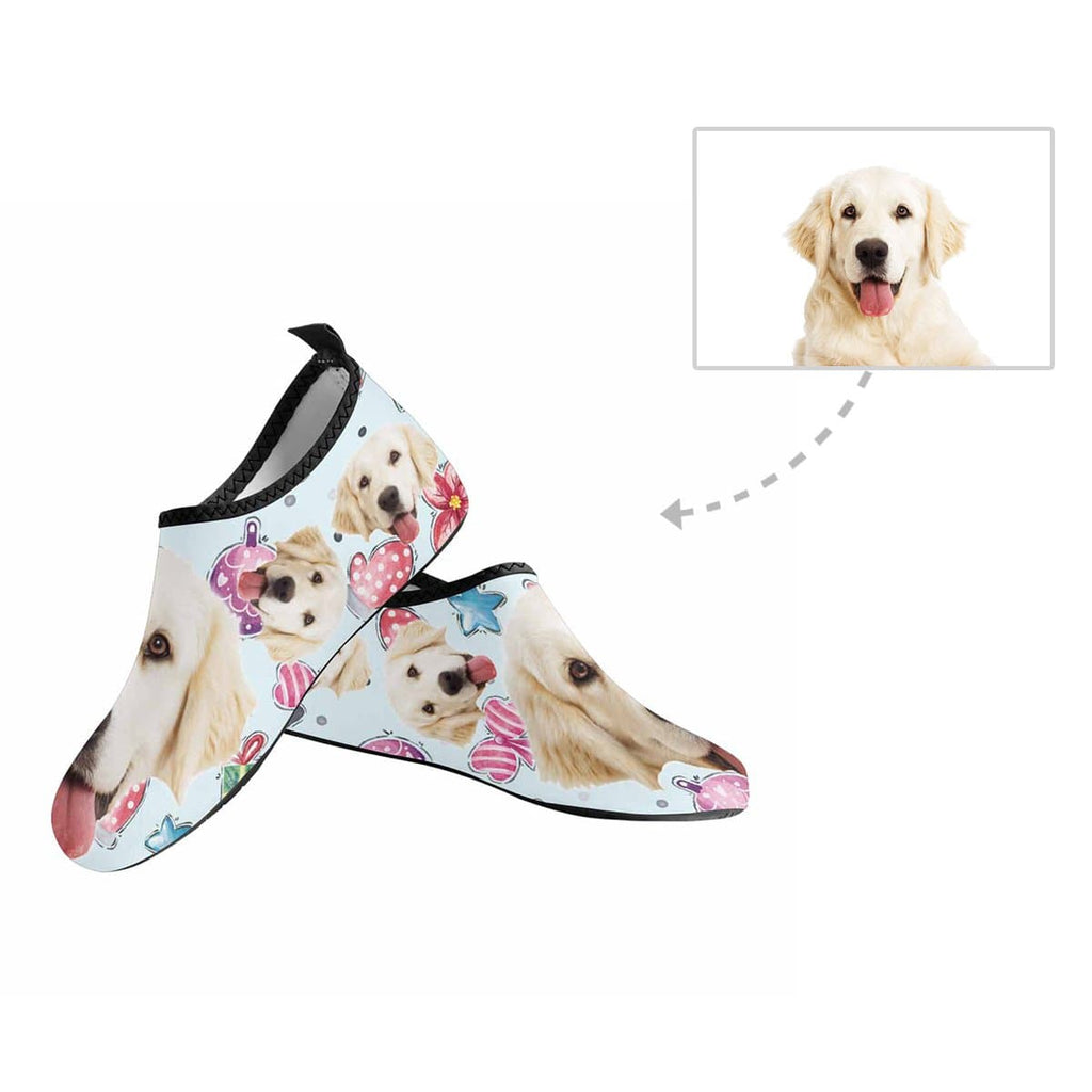 Custom Pet Face Sweet Gifts Kid's Barefoot Aqua Shoes