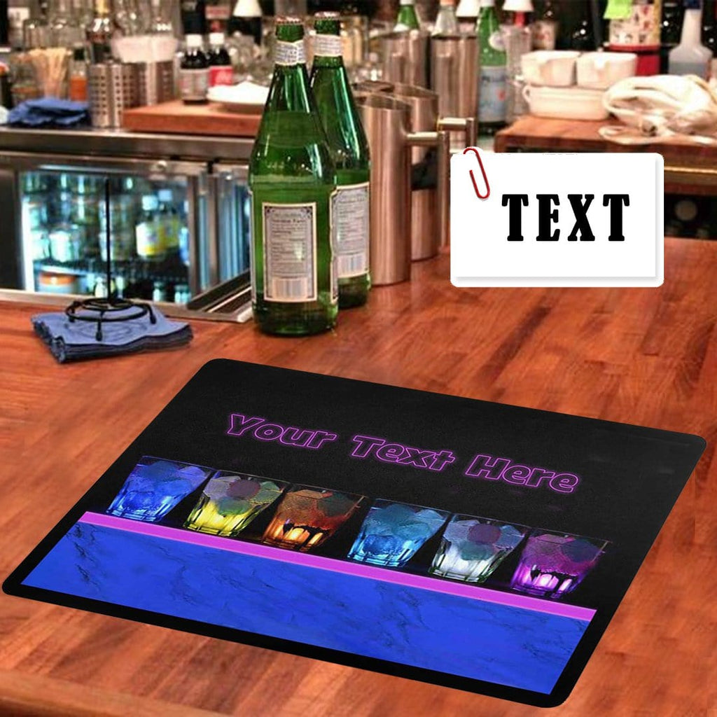Custom Text Colorful Liquor Bar Runner