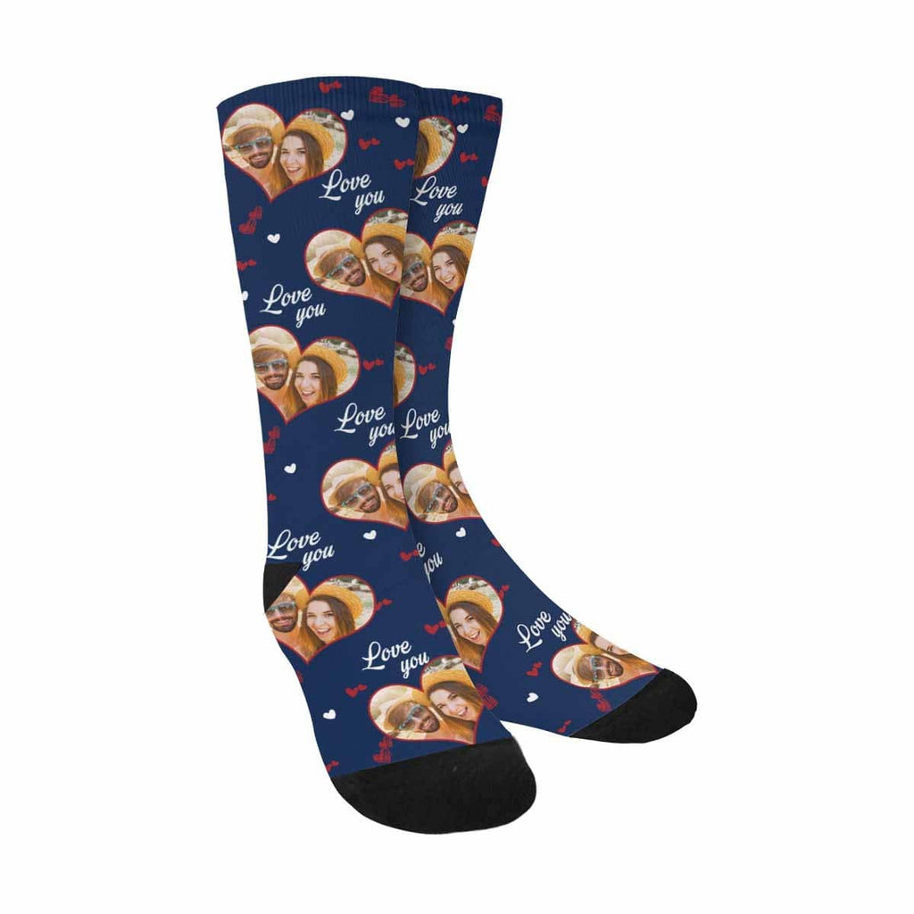 Custom Photo Love Sublimated Crew Socks
