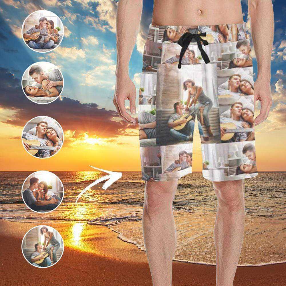 Custom Photo Funny Men's All Over Print Casual Shorts