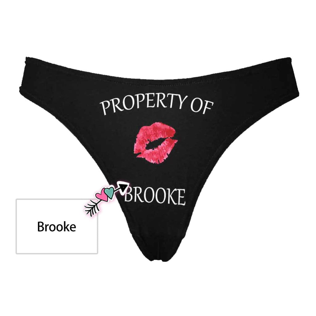 Custom Name Red Kiss Women's Classic Thong