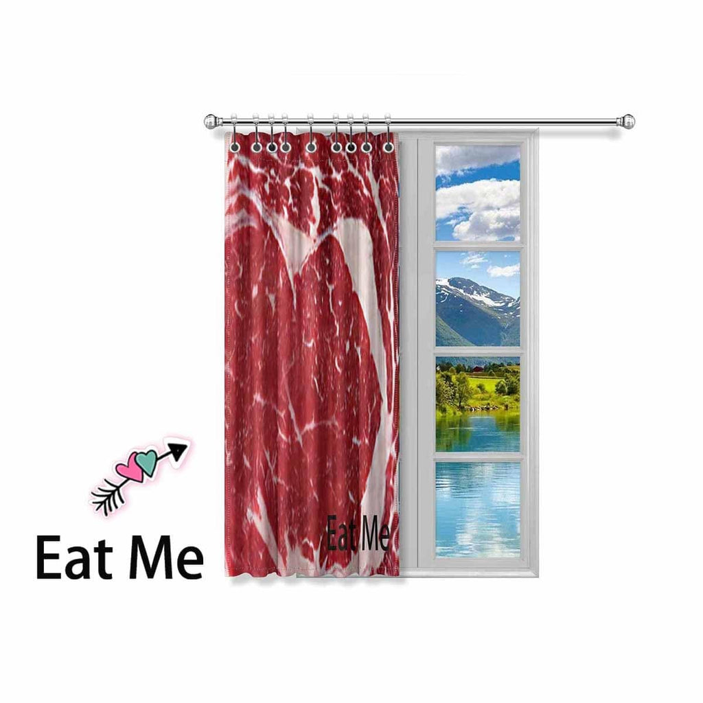 Custom Name Meat Window Curtain 52'' x 63''