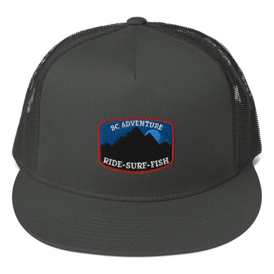 Bermcannon Adventure SURF RIDE FISH Trucker Cap