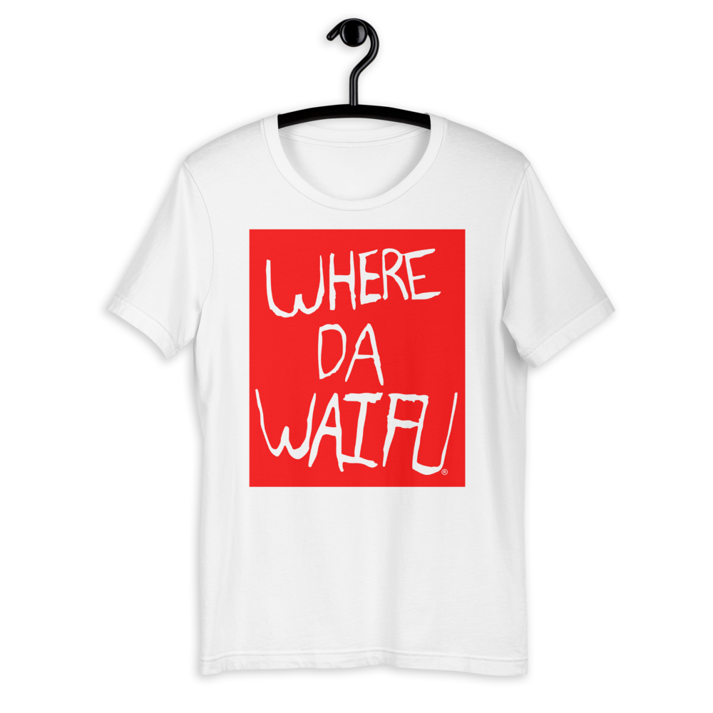 WHERE DA WAIFU BLOCC BOI TEE, RED