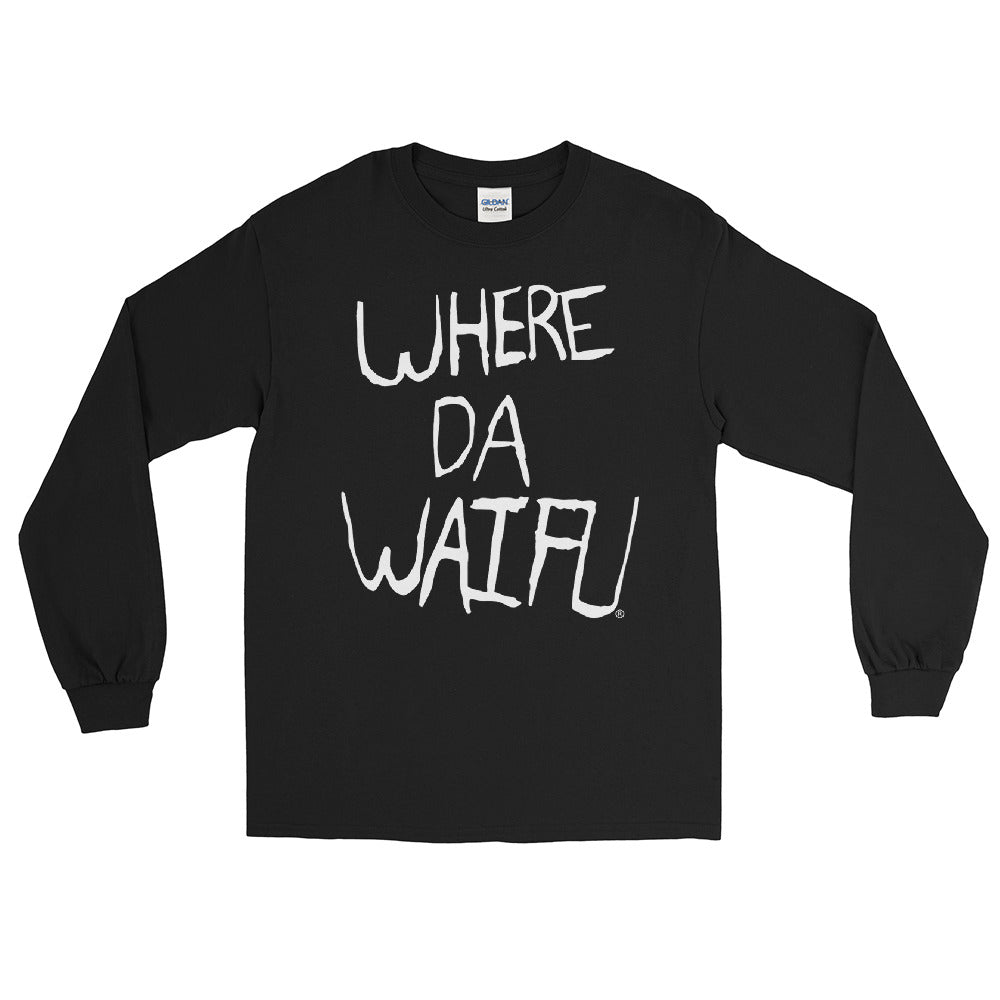 WHERE DA WAIFU Signature Long Sleeve Shirt