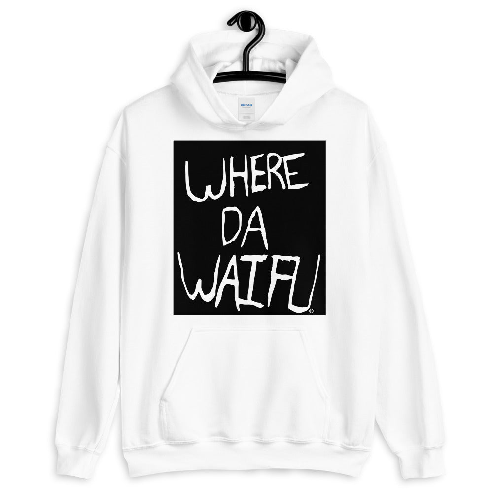 WHERE DA WAIFU BLOCC BOI HOODIE