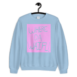 WHERE DA WAIFU BLOCC BOI SWEATSHIRT, PINK