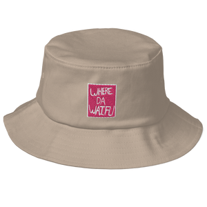 WHERE DA WAIFU BLOCC BOI BUCKET HAT, PINK